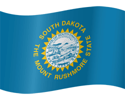 Flagge von South Dakota - Winken