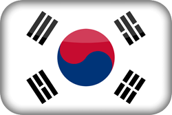 Flag of South Korea - 3D