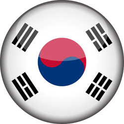 Flag of South Korea - 3D Round