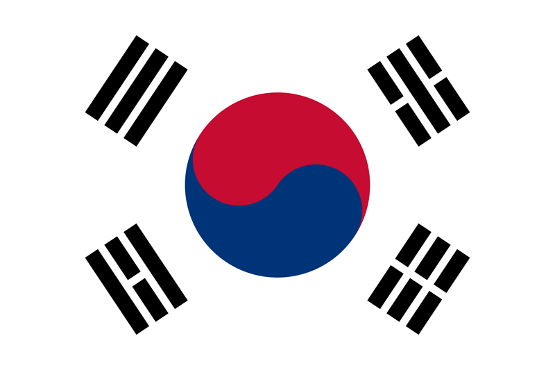 South Korea flag package