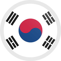 Flag of South Korea - Button Round