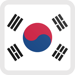 Flag of South Korea - Button Square