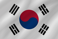 Flag of South Korea - Wave