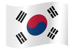 Flag of South Korea - Waving