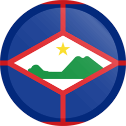 Flag of St. Eustatius - Button Round