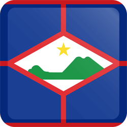 Flag of St. Eustatius - Button Square