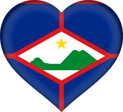Flag of St. Eustatius - Heart 3D