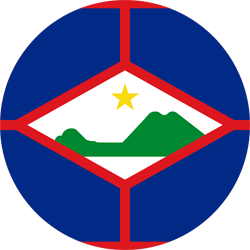 Flag of St. Eustatius - Round