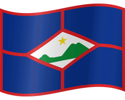 Flag of St. Eustatius - Waving