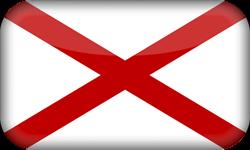 Flagge von St. Patrick - 3D