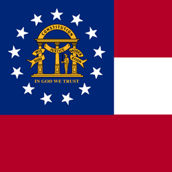 Georgia state flag vector