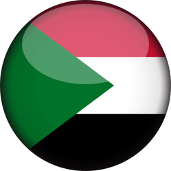 Flag of Sudan - 3D Round