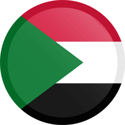 Flag of Sudan - Button Round