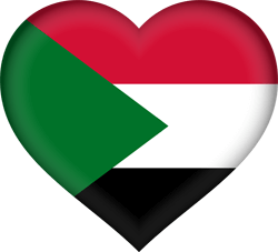 Flag of Sudan - Heart 3D