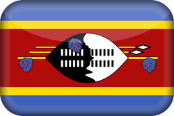 Flag of Swaziland - 3D
