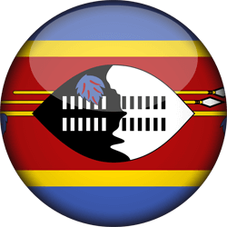 Flag of Swaziland - 3D Round