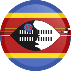 Flag of Swaziland - Button Round