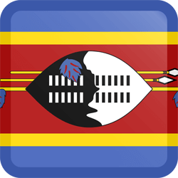 Flag of Swaziland - Button Square