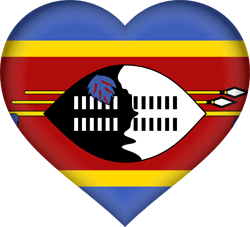 Flag of Swaziland - Heart 3D