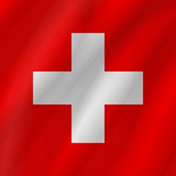 Drapeau de la Suisse - Vague