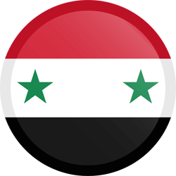 Flag of Syria - Button Round
