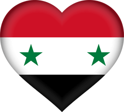 Flag of Syria - Heart 3D