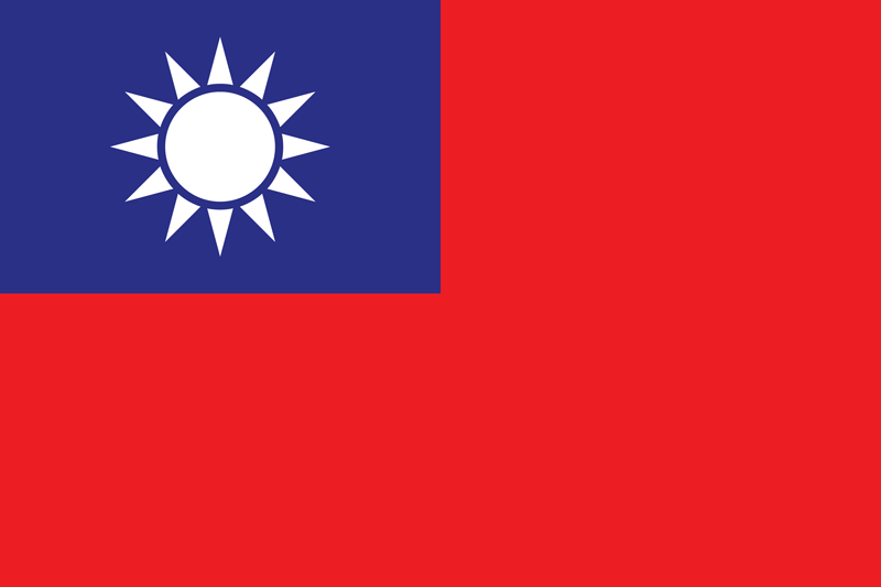 Taiwan flag package