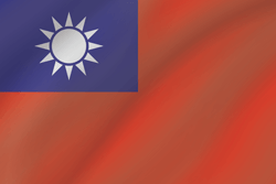 Taiwan flag vector - free download