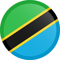 Flag of Tanzania - Button Round
