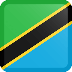 Flag of Tanzania - Button Square
