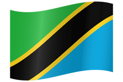 Flag of Tanzania - Waving
