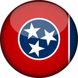 Flag of Tennessee - 3D Round