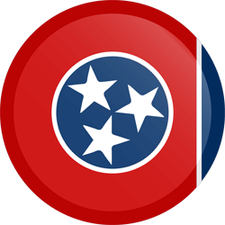 Flag of Tennessee - Button Round