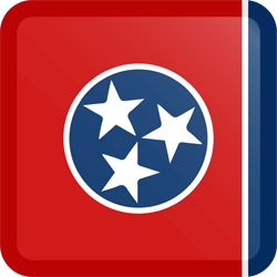 Flag of Tennessee - Button Square