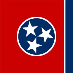 Tennessee vlag vector