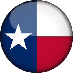 Flag of Texas - 3D Round