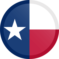Flag of Texas - Button Round