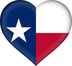 Flag of Texas - Heart 3D