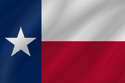 Drapeau de Texas - Vague