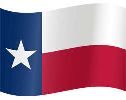 Flag of Texas - Waving