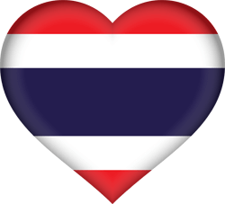 Flag of Thailand - Heart 3D