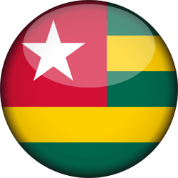Flag of Togo - Flag of the Togolese Republic - 3D Round