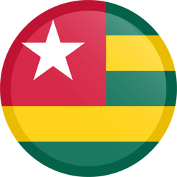 Flag of Togo - Flag of the Togolese Republic - Button Round