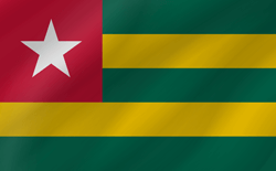 Flag of Togo - Flag of the Togolese Republic - Wave
