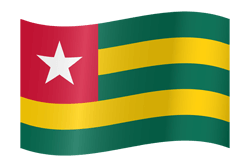 Flag of Togo - Flag of the Togolese Republic - Waving