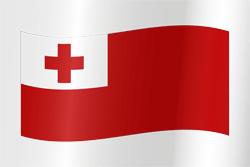 Tonga flag vector - free download