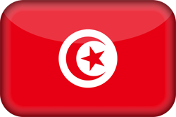 Flag of Tunisia - 3D