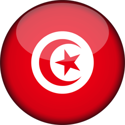 Flag of Tunisia - 3D Round