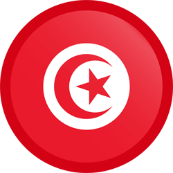 Flag of Tunisia - Button Round