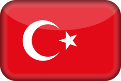 Turkey flag vector - free download